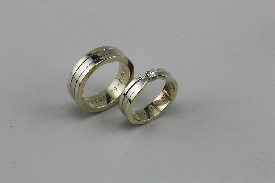 Extreem Zelf trouwringen maken Waddinxveen | Volledig naar jouw wens @HV25